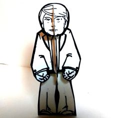 Color and Make Donald Trump Paper Doll - Printable Pattern and Instructions by PaperTownToys on Etsy