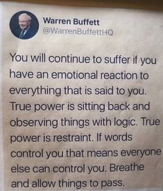 Positive quote by warren buffett very helpful for daily strength to get throug - Quote Positivity - Positive quote - The post Positive quote by warren buffett very helpful for daily strength to get throug appeared first on Gag Dad. New Quotes, Change Quotes, Daily Quotes, Words Quotes, Quotes To Live By, Funny Quotes, Inspirational Quotes, Qoutes, Breathe Quotes
