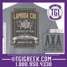 TGI Greek - Lambda Chi Alpha - Formal - Greek T-shirt #tgigreek #lambdachialpha #formal