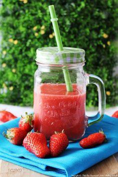 Recette de Smoothie fraises et nashi : la recette facile