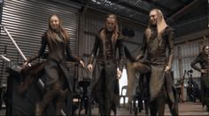 Calen (Left), Faervel (middle) and Orelion (Right) doing the Traditional dance of Mirkwood