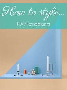 De kandelaar HAY Lub kun je kopen als tafelmodel of als kandelaar voor aan de muur.