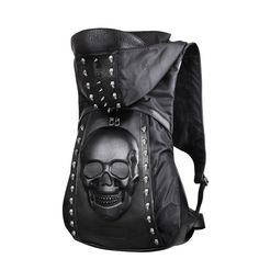 Punk It Up with this amazing new Skull Hoodie Bag! Embrace the devil in you with this leather skull shaped bag. Accompanied with a hoodie, this bag is perfect for those looking to rock the punk look.