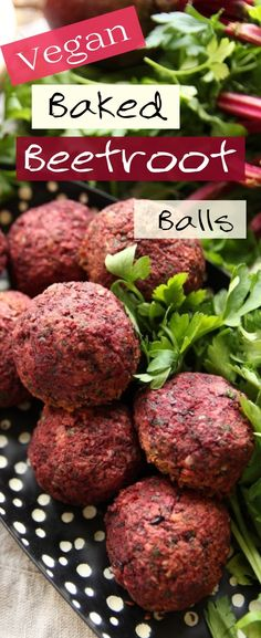 These easy to make vegan baked beetroot and black lentil balls are filled with nutritious real ingredients. They're perfect to eat after a workout session, just prepare a batch in the beginning of the week, freeze and take out to bake when desired. These plant based #proteinballs are #glutenfree, have minimal oil, and are incredibly delicious on their own, or paired with a salad or over a bed of quinoa. #meatlessmonday #plantbased #veganrecipes