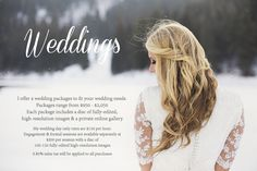 macquelAstudio Wedding Pricing