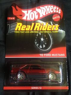 Hot Wheels Real Riders '92 Ford Mustang #HotWheels #Ford