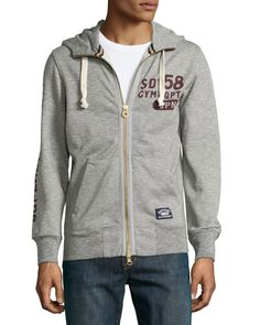 Superdry Pommel Zip-Front Hooded Sweatshirt 93b6f1fcabc