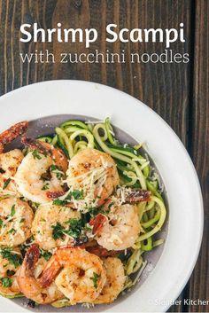 Shrimp Scampi with Zucchini Noodles - Slender Kitchen