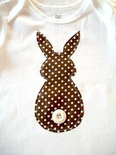 Boys Easter Onesie Bunny Butt Brown Polka Dot by bubbaandlulu, $15.00