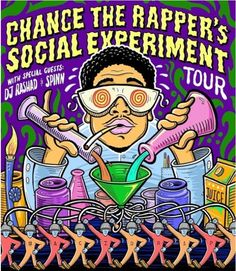 chance the rapper concert poster - Google Search