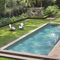 love the pool and landscaping.  i want to relax there!  At Home with Suzanne Kasler : Architectural Digest