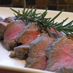 Venison Tenderloin Recipe – oven cooked (most recipes are for grilled - not so fun in the winter!) -- VERY tasty. Would definitely make this one again! Elk Recipes, Venison Recipes, Paleo Recipes, Real Food Recipes, Cooking Recipes, Yummy Recipes, Yummy Food, Venison Meals, Venison Stew