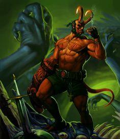 HELLBOY por Mdq181 - Cómics | Dibujando.net Fantasy Demon, Dark Fantasy Art, Manga Characters, Marvel Characters, Hellboy Wallpaper, Hellboy Movie, Mike Mignola Art, Man Beast, Modern Magic