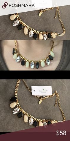 NWT Kate spade gem statement necklace garden NWT 🚫NO TRADES kate spade Jewelry Necklaces