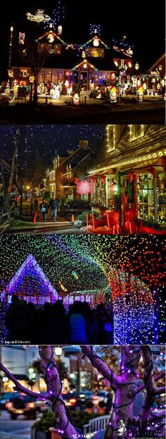 Village christmas lights - 5 PHOTO!