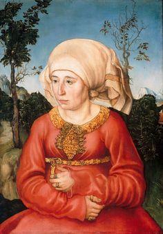 Lucas Cranach d. Ä. - Portrait of Frau Reuss, 1503