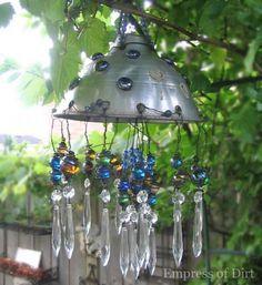 Make A Repurposed Garden Chandelier