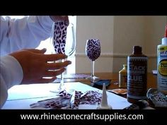 How To Make your own Sparkling Wine Glasses - DIY Crafts Tutorial - Guidecentral - YouTube
