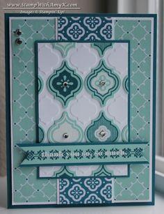 Mosaic Madness stamp set, Mosaic Punch, Delightful Dozen stamp set, Quatrefancy DSP