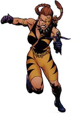 Tigress of the Injustice Society (Crock) (JSA enemy) (DC Comics) Dc Comics Characters, Iconic Characters, Female Characters, Tigress Dc, Dc Injustice, Artemis Crock, League Of Assassins, Martial Artist, Catwoman