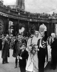 Marriage d'Otto d'Autriche et Regina de Saxe-Meiningen à Metz à Lorraine, le prince a été duc de Lorrain et Bar