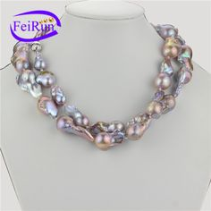 Baroque, Pearl Necklace, Lavender, Pearls, Purple, Jewelry, String Of Pearls, Jewlery, Jewerly