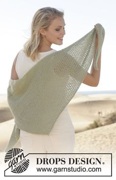 Soft and delicate #shawl - the perfect way to transition your wardrobe through the seasons. Pattern available for free online #garnstudio #knitting