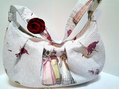 Pride and Prejudice with Zombies Handbag, Knitting, Sewing, Crochet Project Bag Zombie Gifts or Zombie presents for that hard to shop for Undead in your life