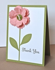 Stampin' Up ideas and supplies from Vicky at Crafting Clare's Paper Moments: Mixed Bunch thank you