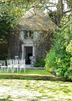 Weddings in the dovecot at the secret garden in Somerset - Kilver Court