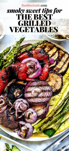 After years of practice, these are my tips for the best easy grilled vegetables, enhancing the natural sweetness of summer vegetables with each smoky bite. Best Grilled Vegetables, Grilled Vegetable Recipes, Vegetarian Recipes, Cooking Recipes, Healthy Recipes, Vegetables On The Grill, Grilled Fruit, Grilled Vegan Recipes, Grilled Vegetable Kabobs