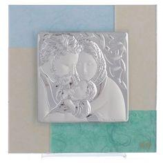 Quadro Matrimonio S. Famiglia celeste verde 20x20 cm | vendita online su HOLYART