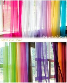 Colorful Sheer Curtains Elegant Tulle Voile Window Curtain Drape Panel Sheers for Living Room, Weddi Balcony Curtains, Tulle Curtains, Cheap Curtains, Home Curtains, Colorful Curtains, Curtains With Blinds, Outdoor Curtains, Curtain For Door Window, Window Curtains