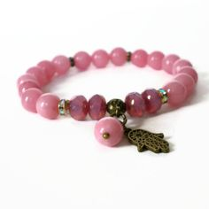 boho stacking bracelet jade gemstone stretch by jcudesigns on Etsy, £12.00