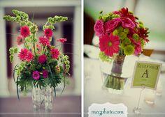 #wedding flowers #pink #green