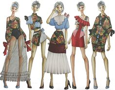 Cheap Women S Fashion Websites Fashion Design Sketchbook, Fashion Design Portfolio, Fashion Illustration Sketches, Fashion Design Drawings, Fashion Sketches, Illustrations, New Fashion Clothes, Fashion Sewing, Fashion Art