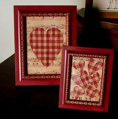 Valentine in a frame craft/decor idea