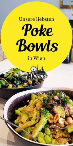 Hawaii-Feeling in #Wien: Hier findest du unsere liebsten Lokale für Poke Bowls. Restaurant Bar, Hawaii, Poke Bowl, Vienna, Austria, Green Beans, Sailing, Places To Go, Restaurants