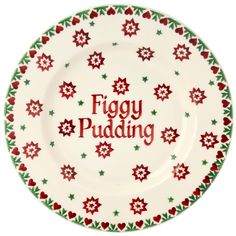 Personalized Santa's Cookies plate by Emma Bridgewater