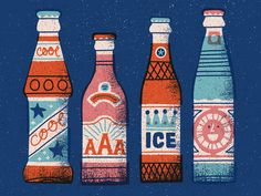 A little selection of vintage soft drinks.