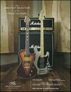 The Music Man Armada & Sabre Bass Guitar Marshall Amp ad 8 x 11 advertisement | eBay