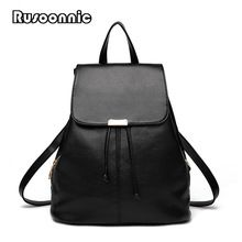 Like and Share if you want this Rusoonnic Backpack Women School Bags High  Quality Pu Leather ae552845a1c9d