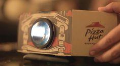 Pizza Hut convierte sus cajas en proyectores de películas portátiles - Wayerless