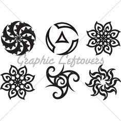 Symbolic Celtic Sun   Tattoo Tribal Silhouette ...