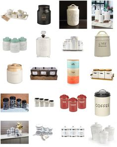 DIY Coffee Station Canisters and Canister Sets Ideas for your coffee nook / coffee area