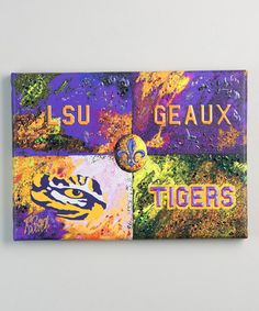 Look what I found on #zulily! LSU Tigers Warhol Geaux Tigers Canvas #zulilyfinds