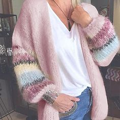LightInTheBox - Παγκόσμιες Online Αγορές για Φορέματα, Σπίτι & Κήπος, Ηλεκτρονικά Προϊόντα, Ένδυση Γάμου Loose Sweater, Sweater Coats, Long Sleeve Sweater, Mohair Cardigan, Crochet Cardigan, Rainbow Cardigan, Plus Size Cardigans, Mode Outfits, Christmas Clothes