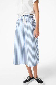Midi skirt - Checked to perfection - Skirts - Monki PL
