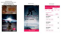 Movie tickets booking app UI on Behance
