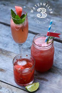 3 Watermelon Cocktails
